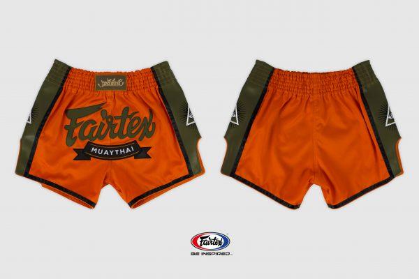 Fairtex Slim Cut Shorts-Orange