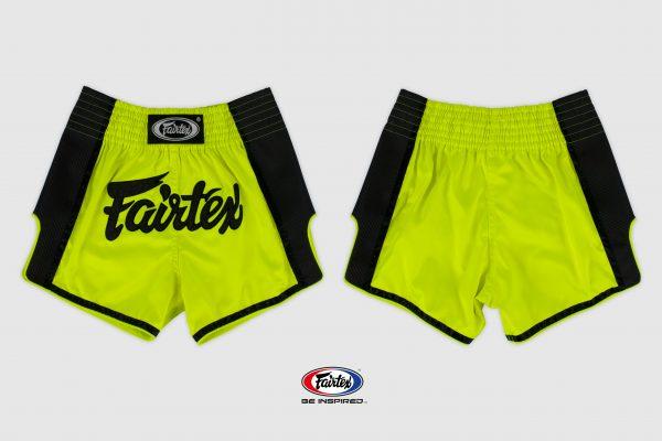 Fairtex Slim Cut Shorts-Lime Green