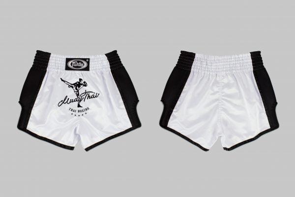 Fairtex -White Slim Cut Shorts