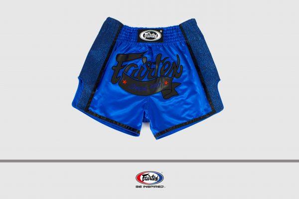 Fairtex Slim Cut Shorts-Blue/Black
