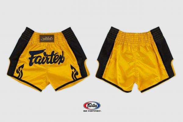 Fairtex Slim Cut Shorts - Yellow/ Black