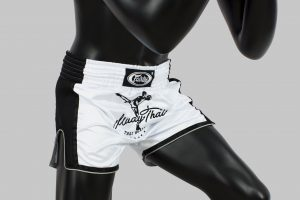 Fairtex - BS1707- Slim Cut Shorts - White
