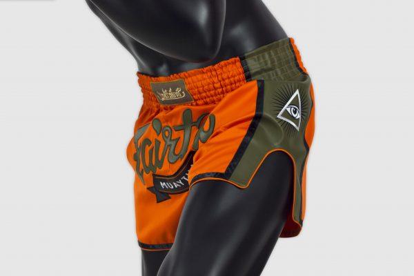 Fairtex Orange Slim Cut Shorts