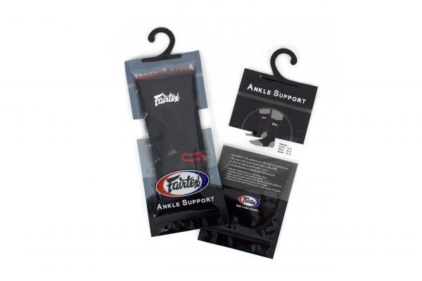Fairtex-AS1 Black Red Trim Ankle Support