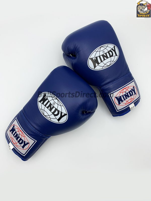 Windy Muay Thai Boxing Gloves BGL with Lace Up Closure Blue