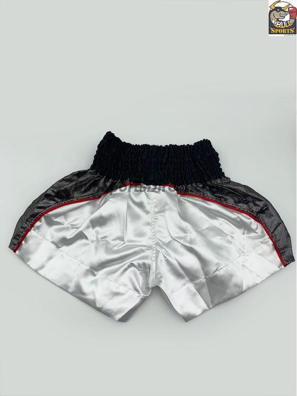 Top King-Muay Thai Shorts-White/Grey