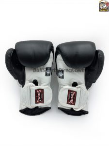 BGVL-6 Black and White Boxing Gloves- Twins