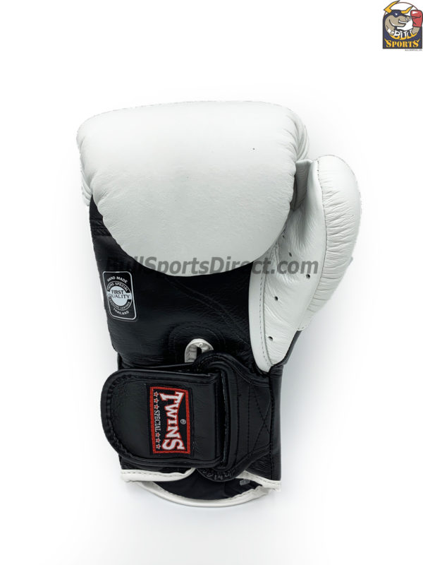 Twins Boxing Gloves BGVL6 White Black by Twins Fight Gears