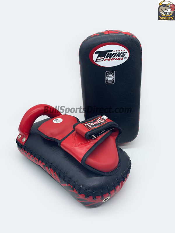 Twins-KPL-12 Deluxe Kicking Pads Black Red