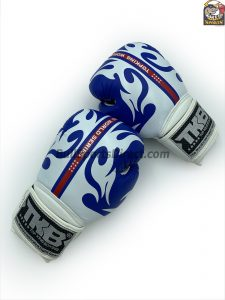 Top King Boxing Gloves World Series blue and white