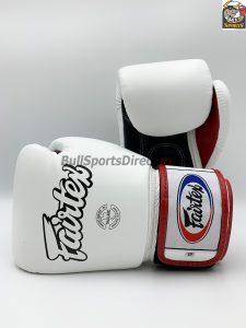 Fairtex BGV1-3T Universal Boxing Gloves - White Black Red