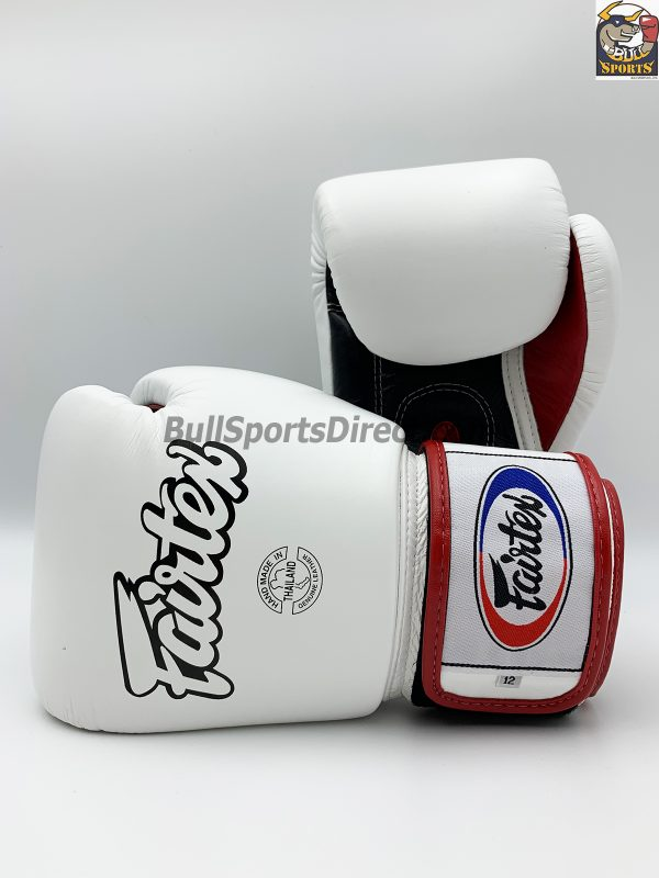 Fairtex BGV1-3T Universal Boxing Gloves - White Black Red