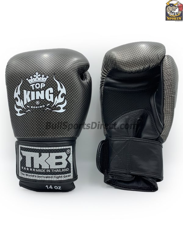 Black and seliver Top King Boxing Gloves Empower2