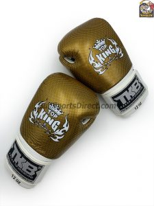 Top King Boxing Gloves Empower 2 Gold and White