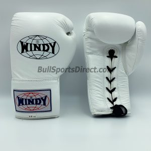 Windy Boxing Gloves Lace Up BGL White Muay Thai Training Gloves