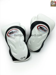 BGVL6 White Black Boxing Gloves - Twins