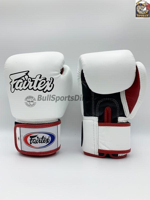 Fairtex BGV1-3T Universal White Black Red Boxing Gloves