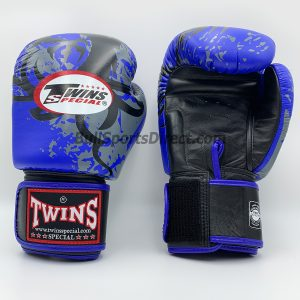 Twins Boxing Gloves FBGV-36 Dragon Claws Blue