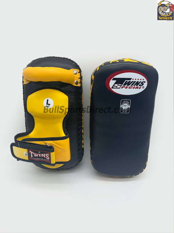 Twins-KPL-12 Deluxe Kicking Pads Black Yellow