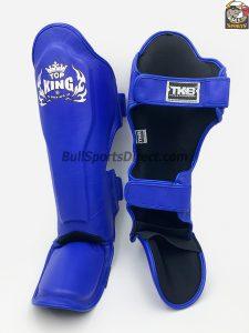 The best blue Pro Muay Thai Top King shin pads