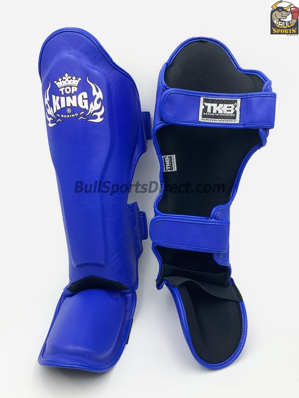 The best blue Pro Muay Thai Top King shin pads