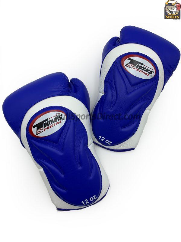 BGVL-6 White Blue Boxing Gloves- Twins