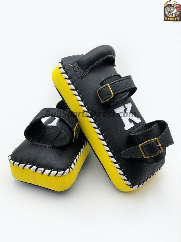 K-Kick Pads- Double Strap-Black Yellow