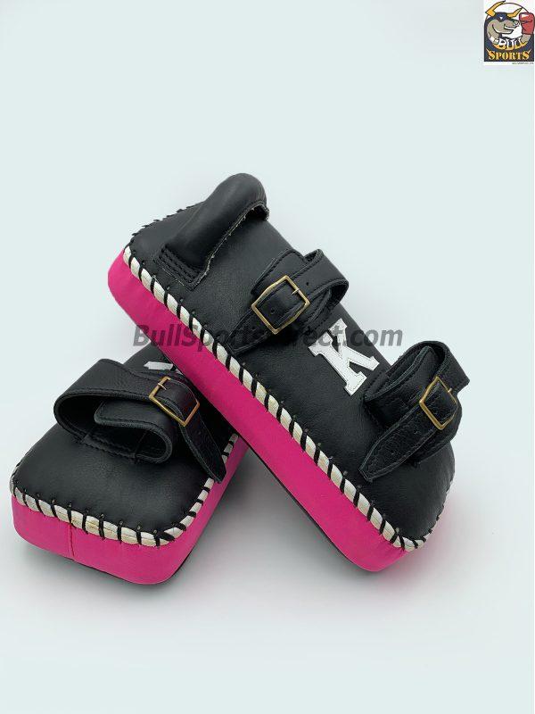 K-Kick Pads- Double Strap-Black Pink