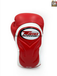 Twins White Red Boxing Gloves BGVL 6