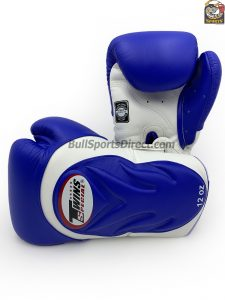 BGVL6-White Blue Twins Boxing Gloves