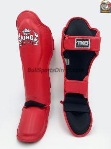 The best red Pro Muay Thai shin pads