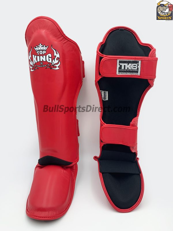 The best red Pro Muay Thai shin pads