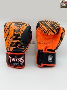 Twins FBGV-TW2 Black Orange Boxing Gloves