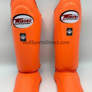 Twins Leather Shin Guards- SGL10-Orange