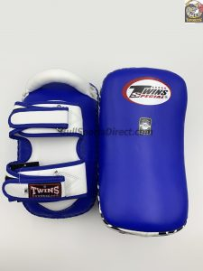 PL-12 Deluxe Kicking Pads-White Blue