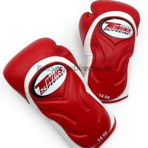 BGVL6 White Red Boxing Gloves- Twins