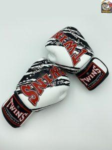 Twins Fancy Boxing Gloves FBGV-TW2 White Black
