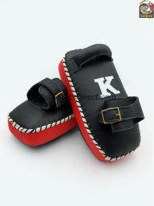K-Kick Pads- Black Red Single Strap