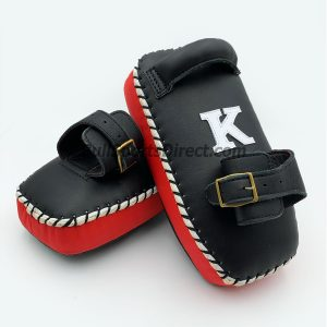 K-Kick Pads- Black Red Single Strap