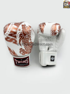 Twins FBGV-49 Copper White Flying Dragon Boxing Gloves