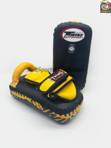 Twins-KPL12 Deluxe Kicking Pads-Black Yellow