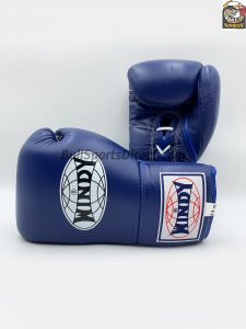 Windy Blue Boxing Gloves BGL with Lace Up Closure