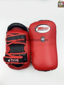 Twins-KPL-12 Deluxe Kicking Pads Red Black