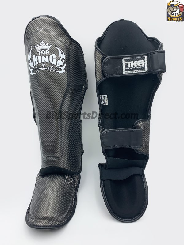 Black and Silver Top King Shin Pads Empower2