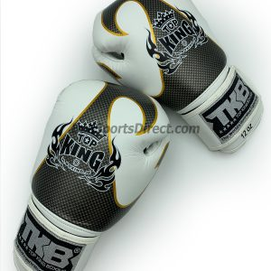 White and silver Top King Boxing Gloves Empower01