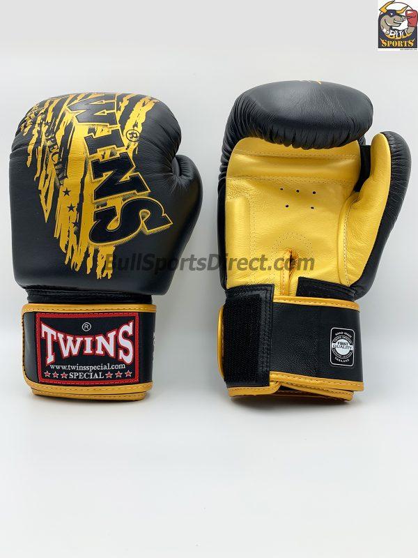 Twins FBGV-TW3 Black Gold Boxing Gloves FBGV-TW3