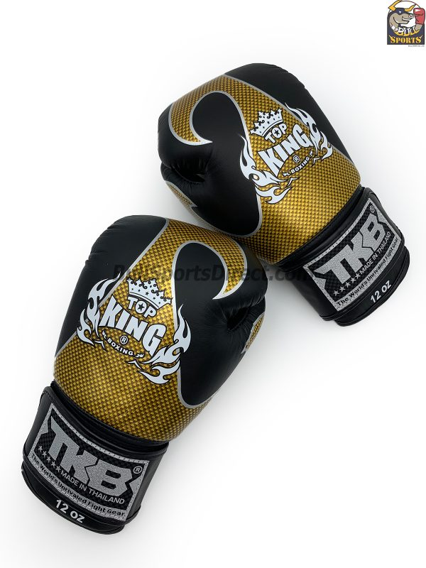 Black and gold Top King boxing gloves empower01