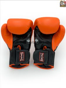Twins BGVL-6 Black Orange Deluxe Sparring Gloves