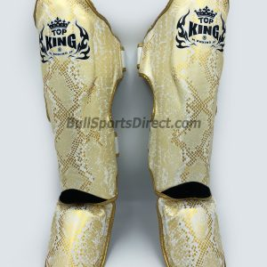 Front of Pro Muay Thai shin pads Top King super snake