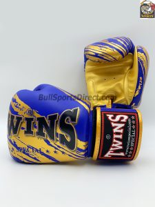Twins FBGV-TW2 Blue Gold Boxing Gloves